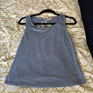 Like New Skies Are Blue Tank with Criss Cross Back